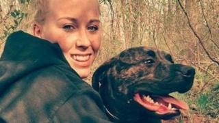 นางสาวเบธานี สีเฟนส์ ที่ถูกสุนัขของตนเองโจมตีจนเสียชีวิต