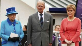 The Queen, the Duke of Edinburgh and Nicola Sturgeon