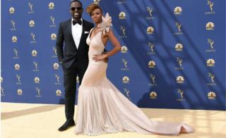 Sterling K. Brown with his wife Ryan Michelle Bathe