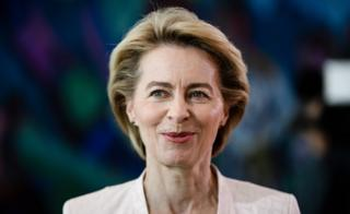 German Defence Minister Ursula von der Leyen at the beginning of a cabinet meeting at the Chancellery in Berlin, Germany, 03 July 2019