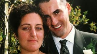 Yve y Maurice Gibney en su boda