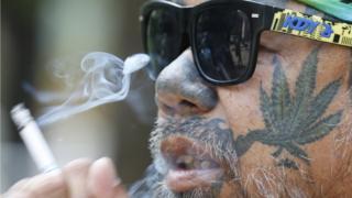 Прихильник легалізації марихуани