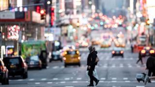 La circulation a été fortement réduite dans les rues de New York