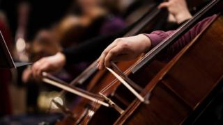 Image of cellos