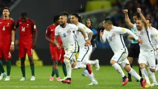 Chile festeja el triunfo