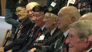 World War Two veterans who have received the Legion d'honneur in Truro