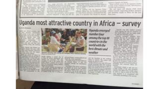 Uganda ndilo taifa linalopendwa sana na wataalam Afrika