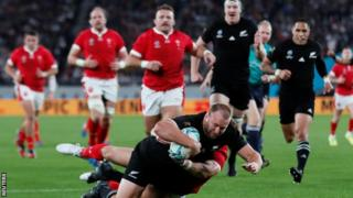 Prop Joe Moody showed New Zealand's intent with a try after just five minutes