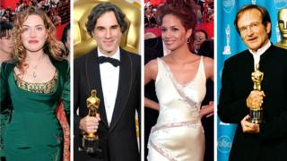 Kate Winslet, Daniel Day-Lewis, Halle Berry and Robin Williams on the Oscars red carpet