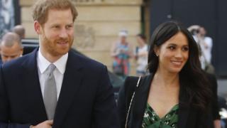 Pangeran Harry dan tunangannya Meghan Markle