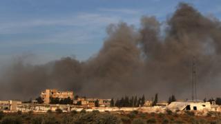 İdlib'den yükselen dumanlar