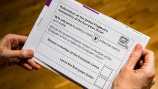 UK Brexit vote - ballot paper
