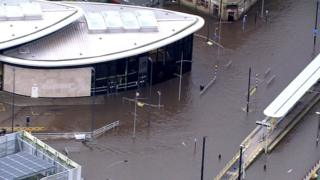 Rochdale town centre flooding