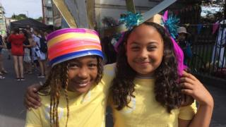 Summerhill School girls in their carnival outfits