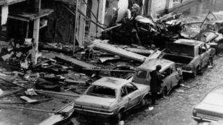 The aftermath of the Talbot Street bombing in Dublin