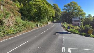 The A5 road in Conwy county