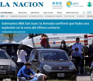 La Nacion newspaper carried pictures of emotional scenes