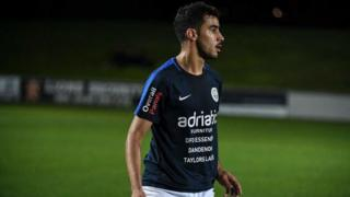 Hakeem Al-Araibi on the football field