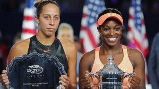 Sloan Stephens and Madison Kij at US Open Tennis Tournament