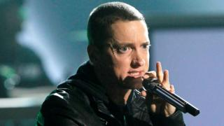 Rapper Eminem performs Not Afraid at the 2010 BET Awards in Los Angeles, 27 June 2010