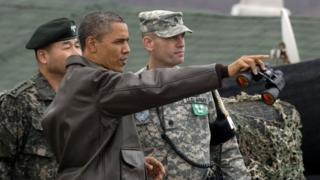 Barack Obama visits the DMZ