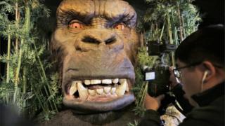 Mô hình King Kong tại bảo tàng Madame Tussauds, New York