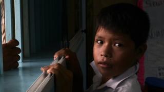 Un niño venezolano