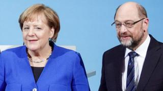 Martin Schulz ve Angela Merkel