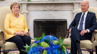 Канцлерь Ангела Меркель менен президент Жо Байден