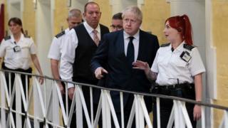 Prime Minister Boris Johnson visiting Leeds HMP