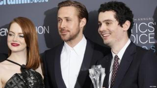 Emma Stone, Ryan Gosling and Damien Chazelle