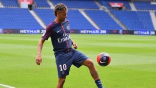 Neymar baada ya kujiunga na PSG