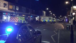 Scene of collision in Main Street, Garforth