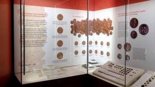 Coins at Verulamium Museum