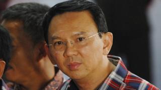 Image shows former Jakarta governor Basuki Tjahaja Purnama,