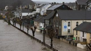 weather Floodwaters in Pontypridd