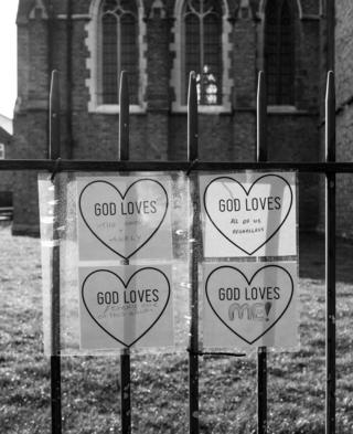God Loves signs