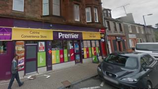 Catrine store worker attacked