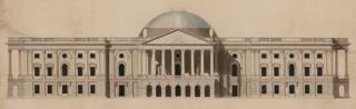 Design for US Capitol, Washington DC - by William Thornton, 1793-1800