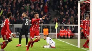 'Yan Bayern na murnar zura kwallo a raga
