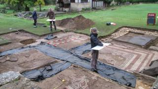 Mosaics uncovered during 2015 dig