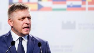 Slovakia's Prime minister Robert Fico delivers a statement after the European Union Summit of 27 Heads of State or Government in Bratislava, Slovakia on 16 September 2016.