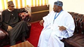 Buhari ati obasanjo