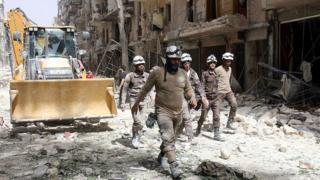 """""""Белые каски"""" летом 2016 года в Алеппо"""