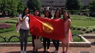 """""""SUSI-2017"""" программасына жолдомо утуп алган кыргыз студенттери Вашингтондо."""