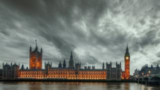 Storm clouds over Westminster