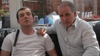 Derry man Sean Lynch, and father, Damien, who blinded himself in Maghaberry prison