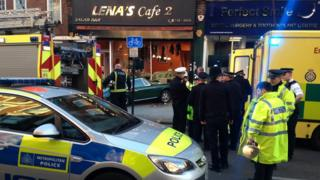emergency services attend the scene in West Hampstead