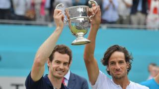 Sir Andy Murray and his partner Feliciano Lopez