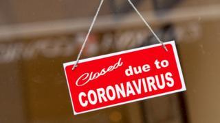 Northern Ireland Closed due to Coronavirus sign